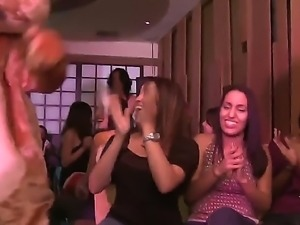 Girls of all kinds got together at a party for some crazy orgy with their...