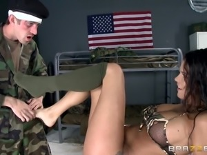 smokey bitch from the army gets dirty