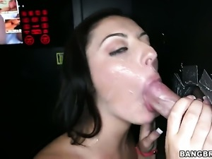 Nikki Lavay in a glory hole