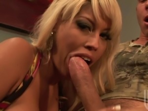 Bridgette B is going to show how to properly suck one big white pole. This...