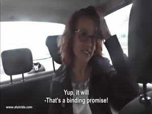 Redhead MILF does handjob, BJ and fucks with taxidriver free