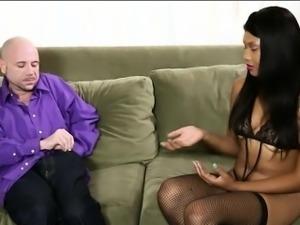 Black masseuse Lila Jordan cum facialed under the table