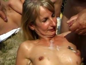 SpermAnneke Bukkake Gangbang cum orgie 9 free