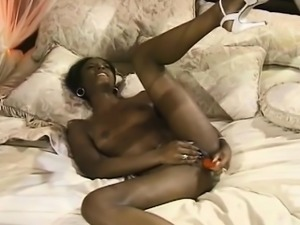 Horny ebony in heels gets crazy while ma - Fuck her on CHEAT