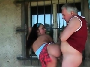 Teen czech babe fucked by old horny guy