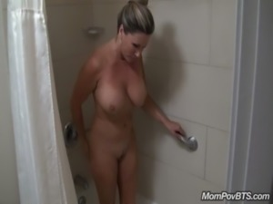 Big tits milf behind the scenes free