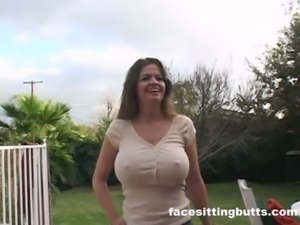 Fucking the neighbor's busty wife while he's working free