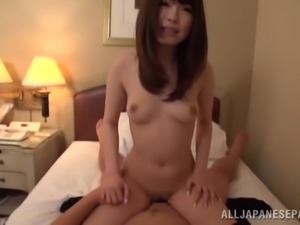 japanese whore takes a big load inside her snatch