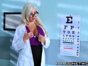Sexy eye doctor fucking with a patient