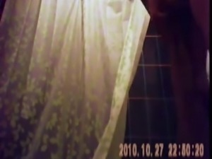 23 yo  huge tits hidden spy voyeur cam bathroom shower