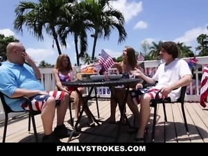 FamilyStrokes - 4th of July Family Fucking