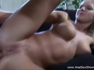 Love how this blonde MILF gets her asshole stretched and gaped in this...