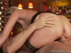 Fun and outrageously hot anal sex is on display here when this sexy blonde...