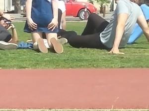 Turkish girl upskirt outdoor