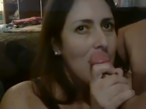 Wife suck for cum and swallows