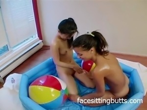 Oiled up sluts get messy