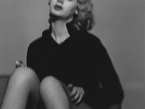 NO GOOD  - vintage smoking blonde striptease fishnets