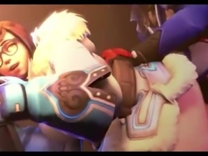 HMV 3d SFM Overwatch Mei Hentai Music Video Compilation