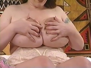 Pierced pussy with milky tits - to big for you?