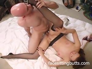 What a kinky stocking fucker