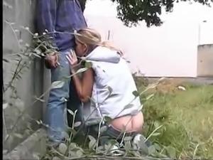 Outdoor  Blonde Teen Fucked From Behind