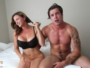 Tatted Hunk Fucks His Fit Girl Friend. **HARD**
