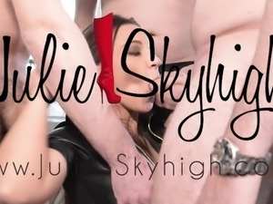 My Last Gangbang in high heels Louboutin and leather dress