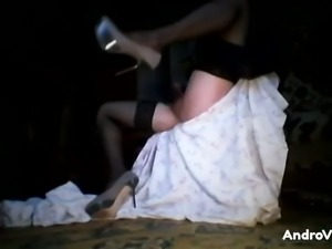 My hubby has a crossdressing fetish and he loves jerking off