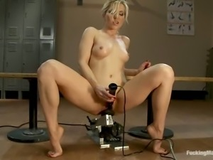 Licking machine makes Ashley Fires feel like in heaven