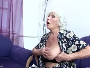 Mom and granny fucked and pissed on by son