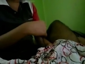 Indian couple handjob