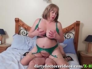 Cock Sucking Mature Trisha Gets a Mouthfull