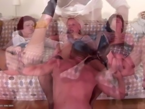 Mature mom and grannies piss and fucks young son