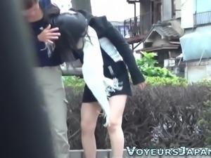 Japanese teen pee outside