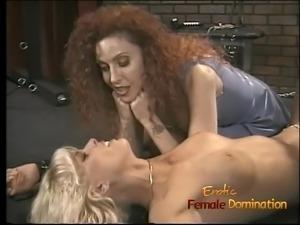 Saucy redhead bint enjoys pinching a hot blondes nipples