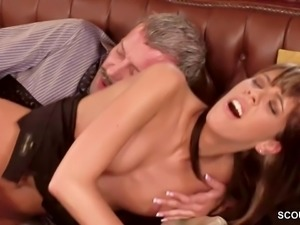 Teen in Hote Lingerie Seduce to Anal Fuck by Boss in Office