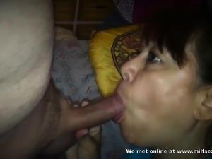 Mature Asian from Milfsexdating Net sucking my cock