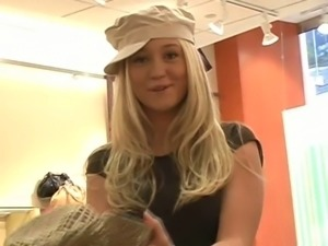 Very horny and cute blond Alison is taking you with her