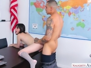 slim schoolgirl getting her holes stretched