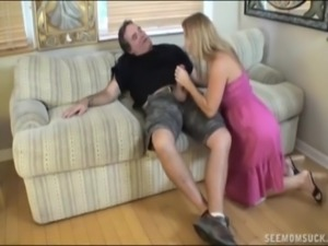 Two blondes sucking a dick