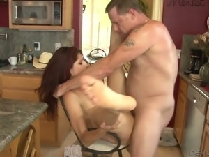 Desirable girl Nikki Knightly fucked bad in the kitchen
