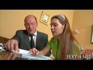 Lusty offering for elderly teacher