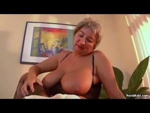 Busty granny needs young cock