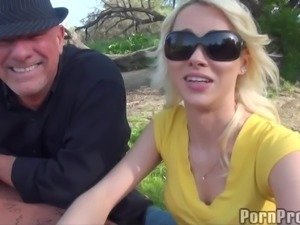 Foot fetish blonde shaved pussy blasted hardcore till orgasm