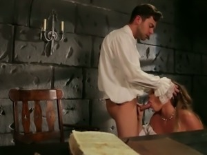 Seductive porn actress Samantha Saint is having passionate sex with horny dude