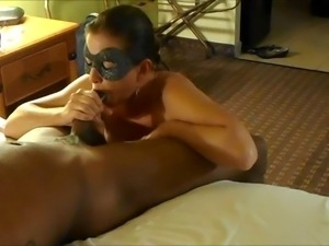 Super Hot Wife Sucks and fucks Another Young Black Bull