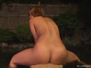 Japanese model giving dick blowjob then fucked hardcore
