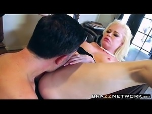 Hot busty blonde babe licked and rammed deeply by big dick