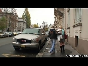 Skinny granny prostitute takes big cock from behind PornWebcamZ.com
