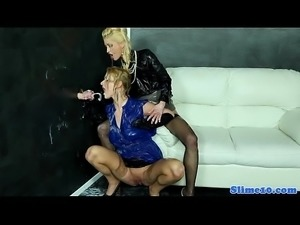 Cumdrenched eurobabes fistfuck